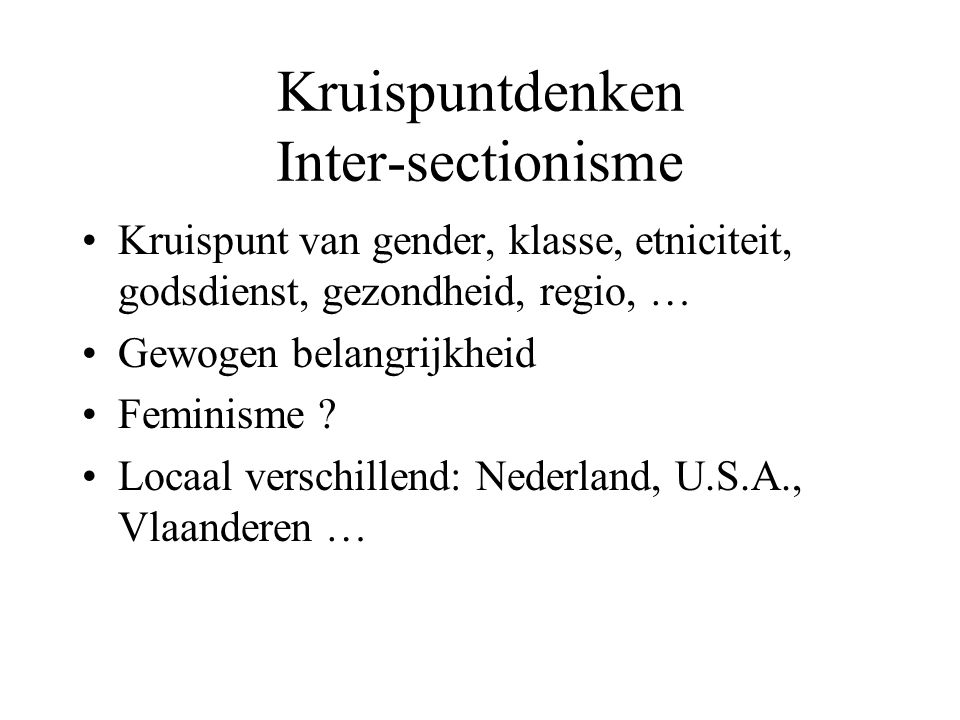 Kruispuntdenken Inter-sectionisme