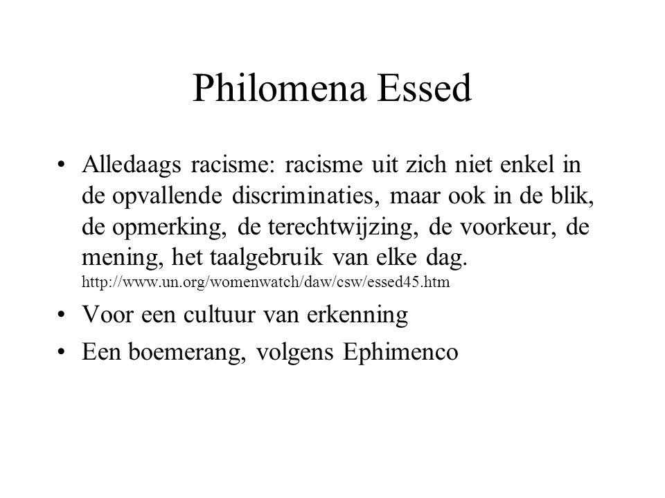 Philomena Essed