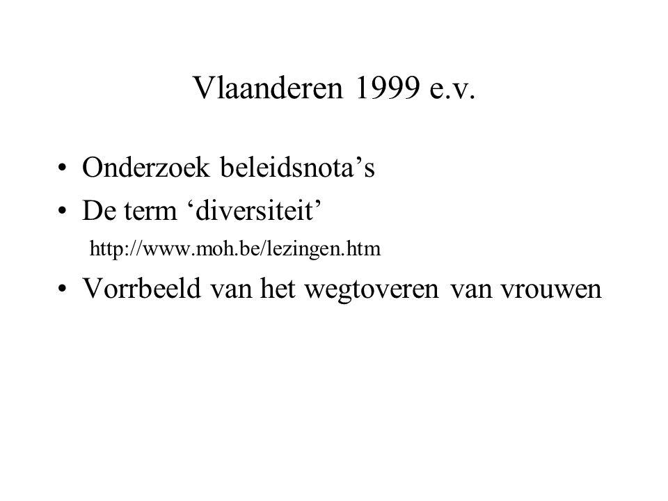 Vlaanderen 1999 e.v. Onderzoek beleidsnota's