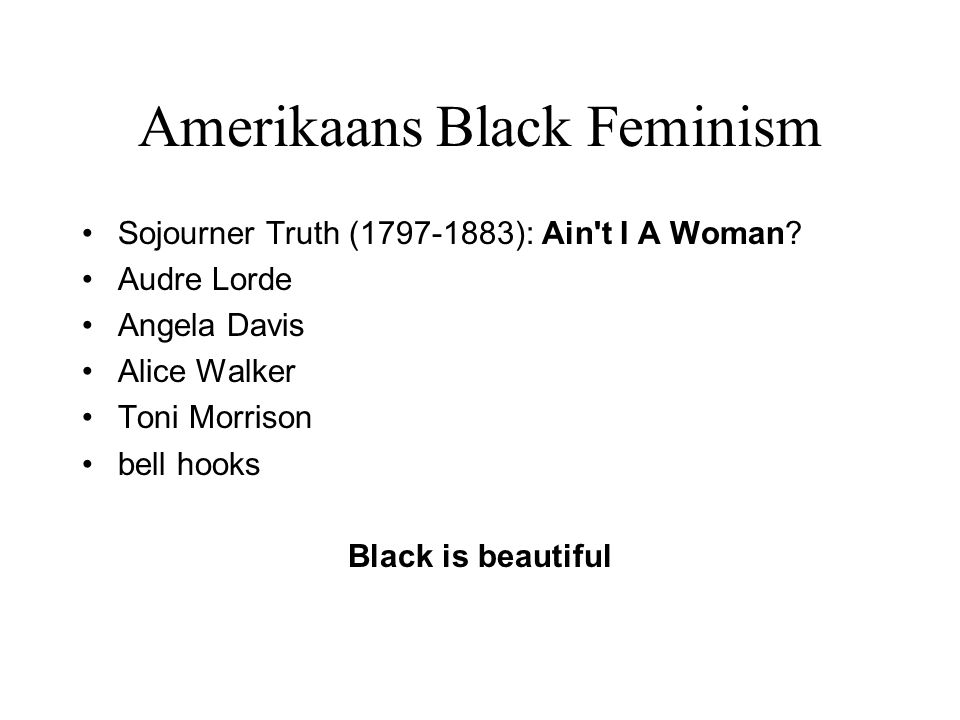 Amerikaans Black Feminism