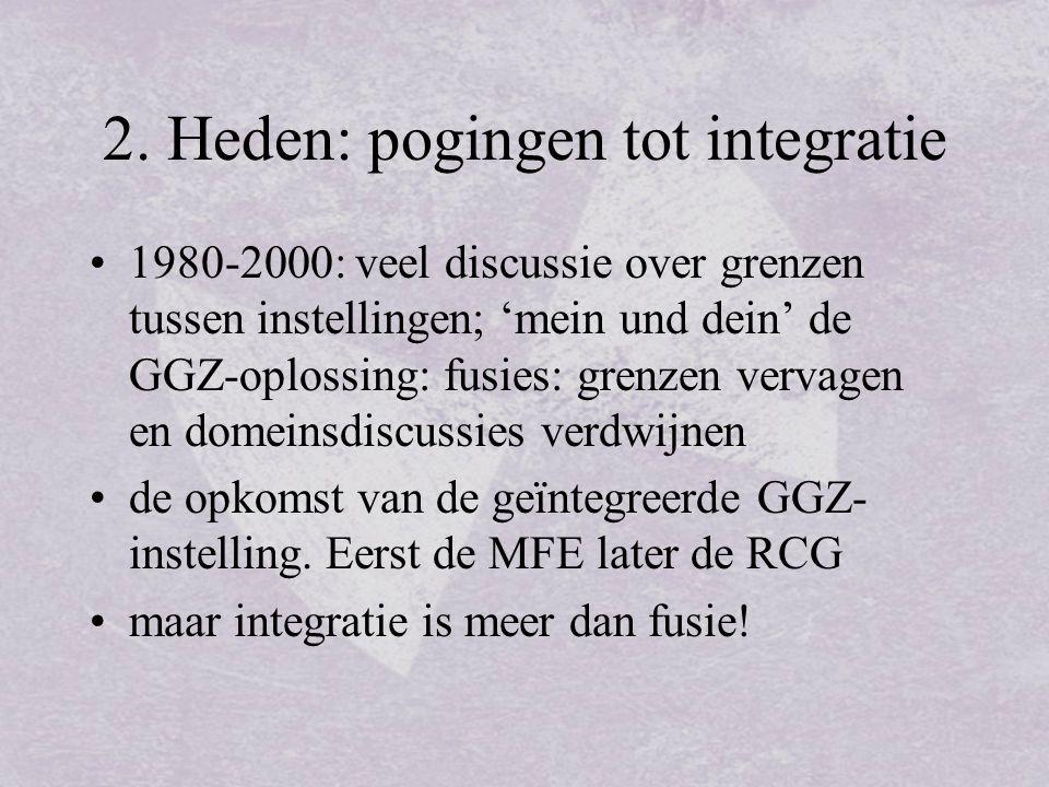 2. Heden: pogingen tot integratie