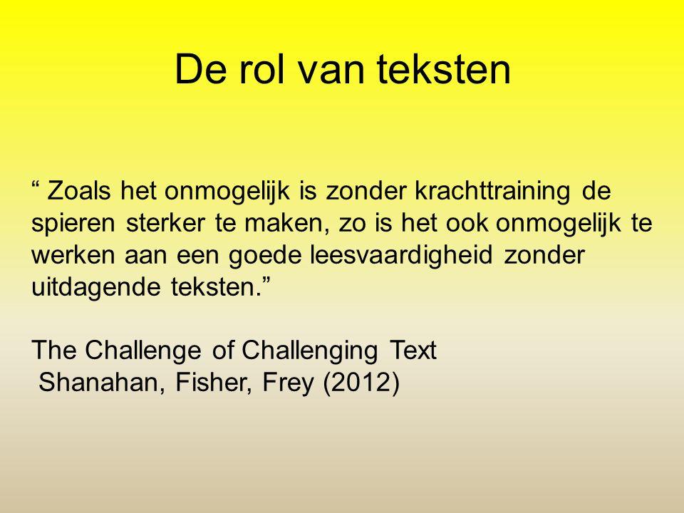 De rol van teksten