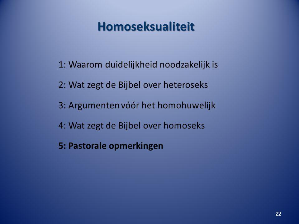 Homoseksualiteit 1: Waarom duidelijkheid noodzakelijk is