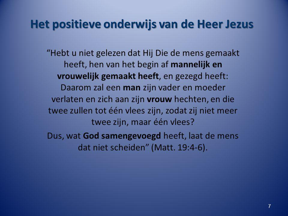 Het positieve onderwijs van de Heer Jezus
