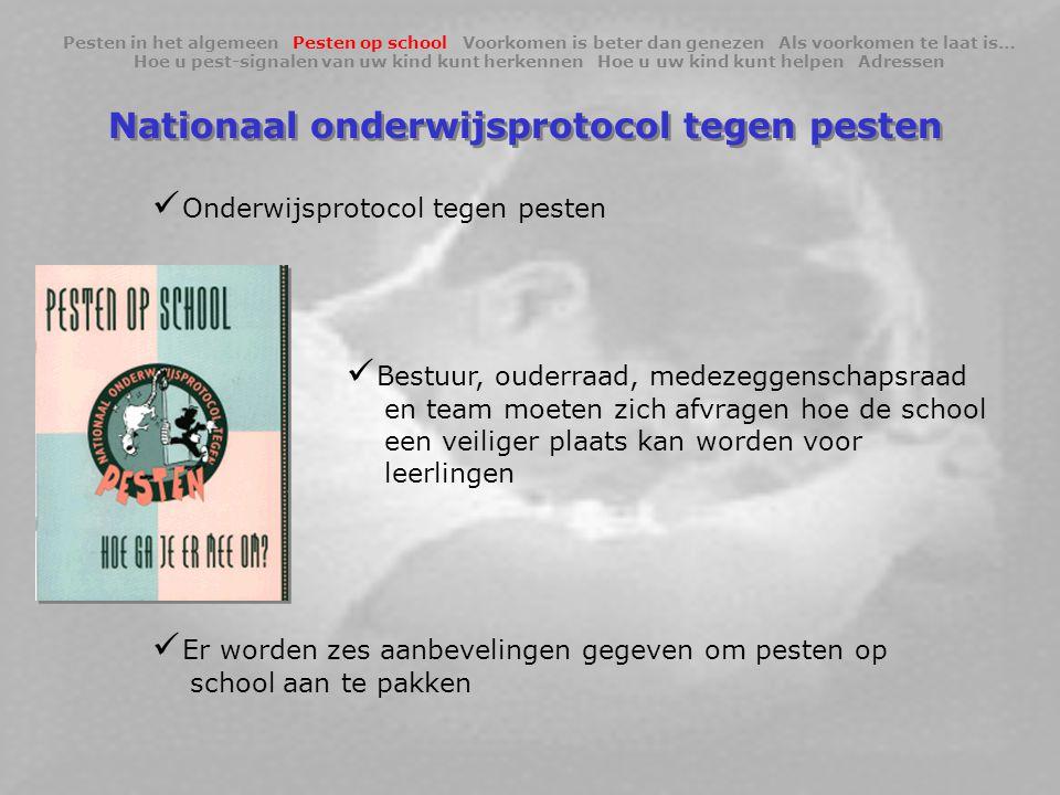 Nationaal onderwijsprotocol tegen pesten
