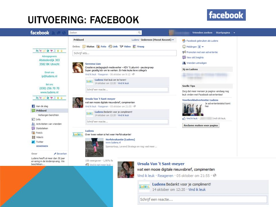 Uitvoering: Facebook