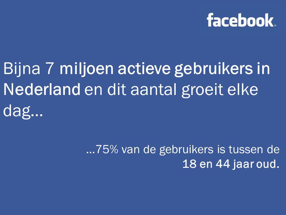 Bijna 7 miljoen actieve gebruikers in Nederland en dit aantal groeit elke dag…