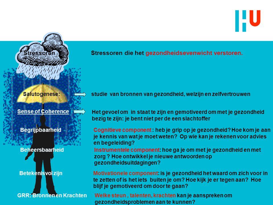 Stressoren Stressoren die het gezondheidsevenwicht verstoren.