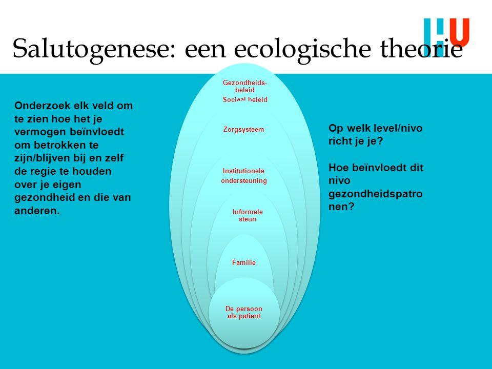 Salutogenese: een ecologische theorie