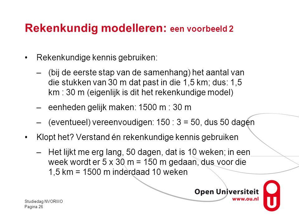 Rekenkundig modelleren: een voorbeeld 2