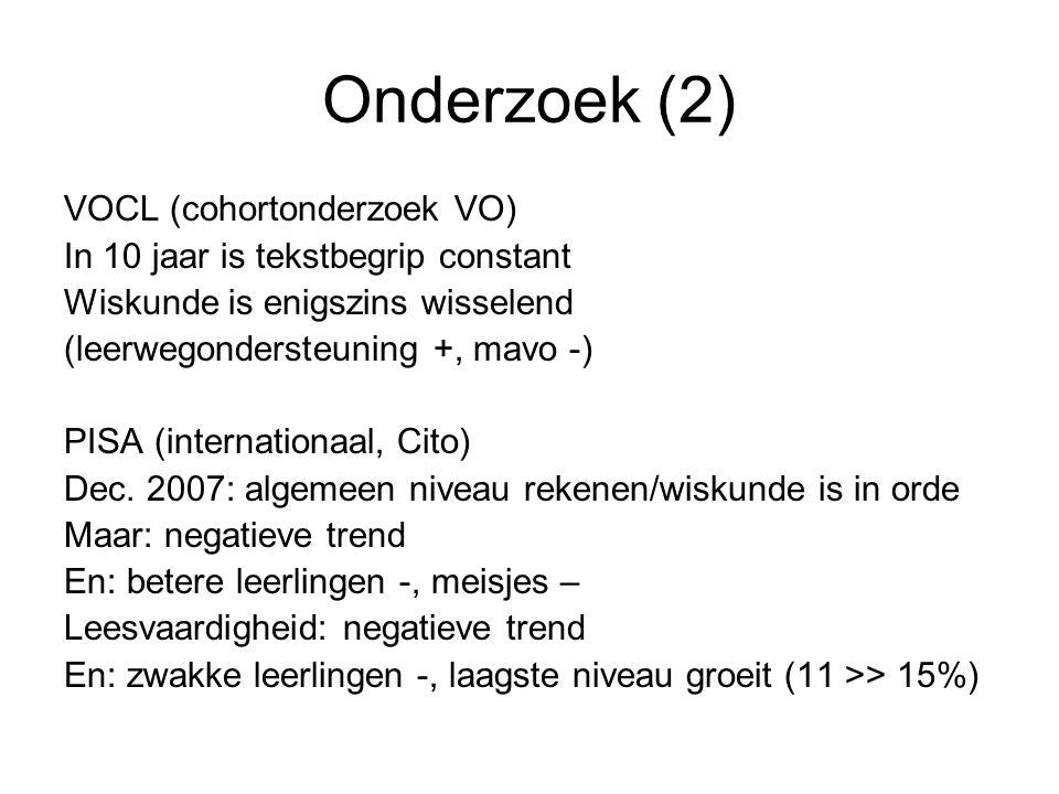 Onderzoek (2) VOCL (cohortonderzoek VO)