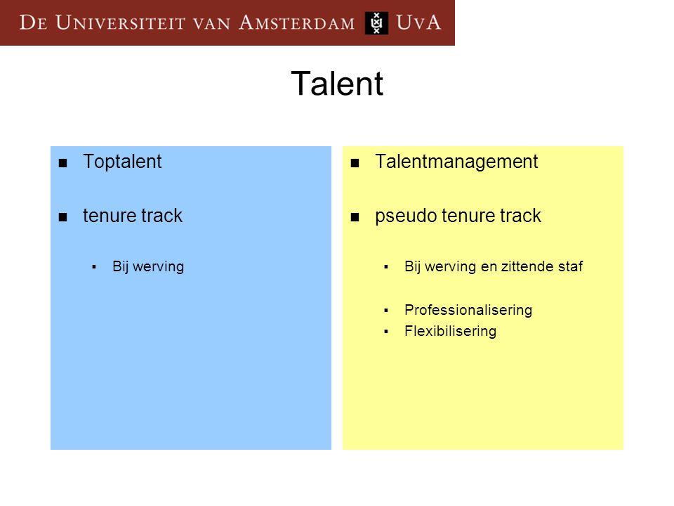 Talent Toptalent tenure track Talentmanagement pseudo tenure track