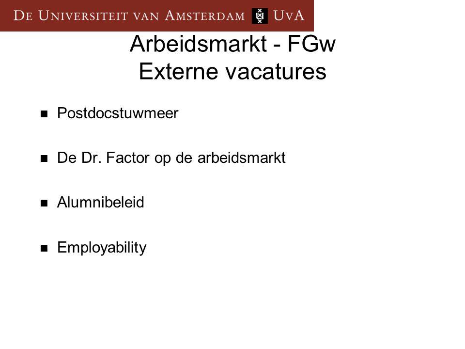 Arbeidsmarkt - FGw Externe vacatures