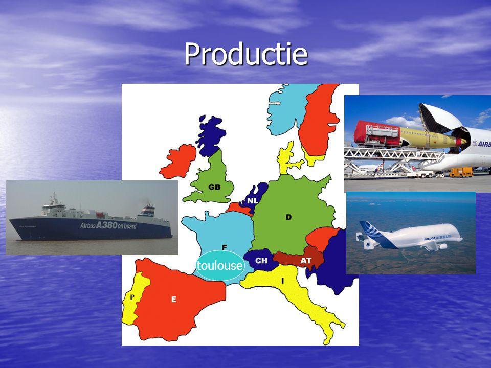 Productie toulouse Toulouse in frankrijk (hoofdkantoor)
