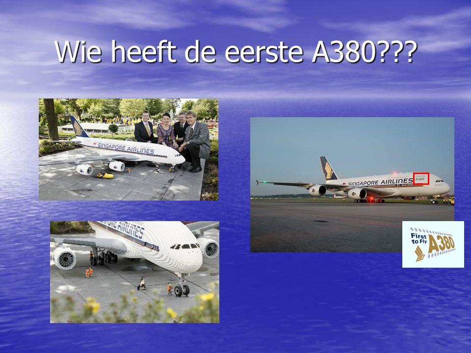 Wie heeft de eerste A380 Singapore airlines Legoland denemarken