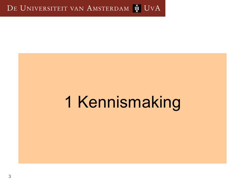 1 Kennismaking 3
