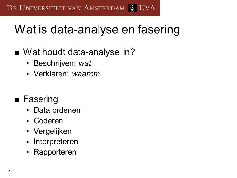 Wat is data-analyse en fasering