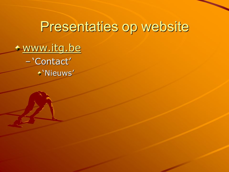 Presentaties op website