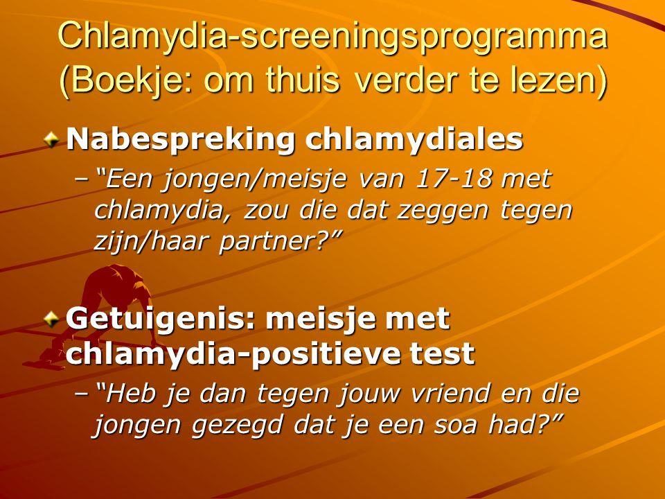 Chlamydia-screeningsprogramma (Boekje: om thuis verder te lezen)