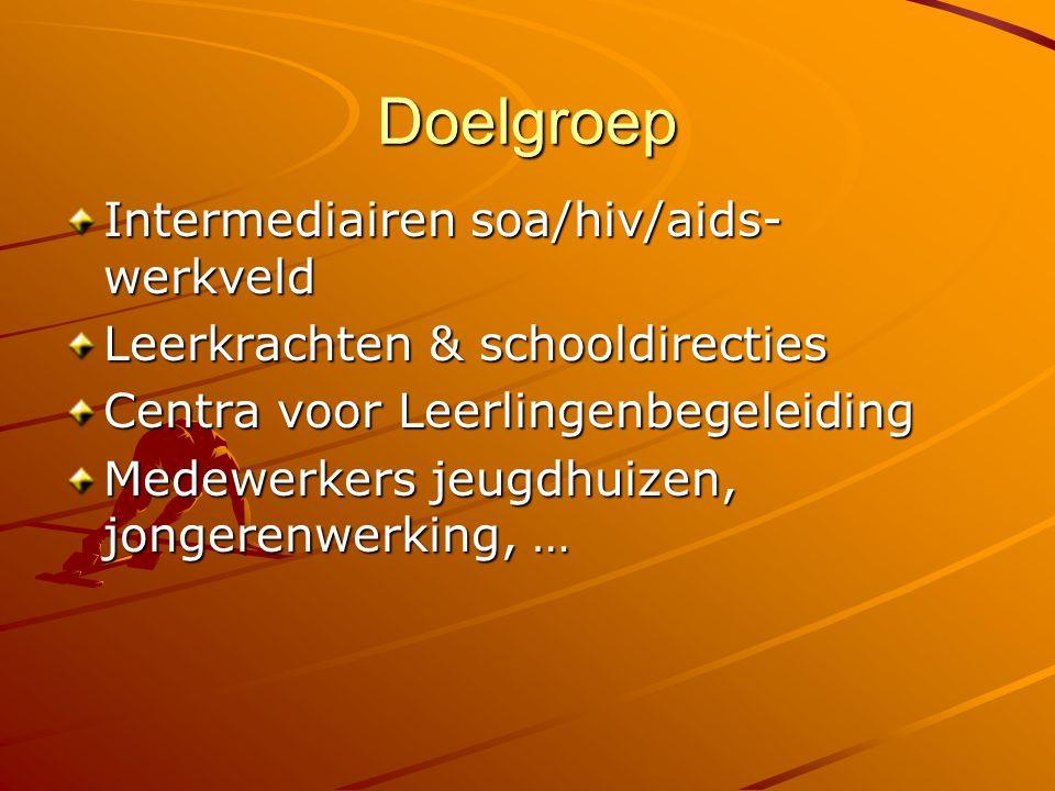 Doelgroep Intermediairen soa/hiv/aids-werkveld