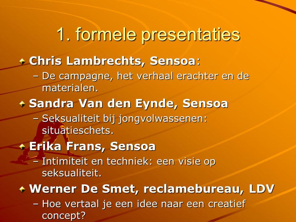 1. formele presentaties Chris Lambrechts, Sensoa: