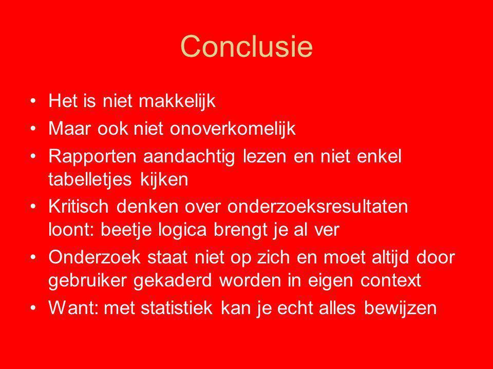 Conclusie Het is niet makkelijk Maar ook niet onoverkomelijk