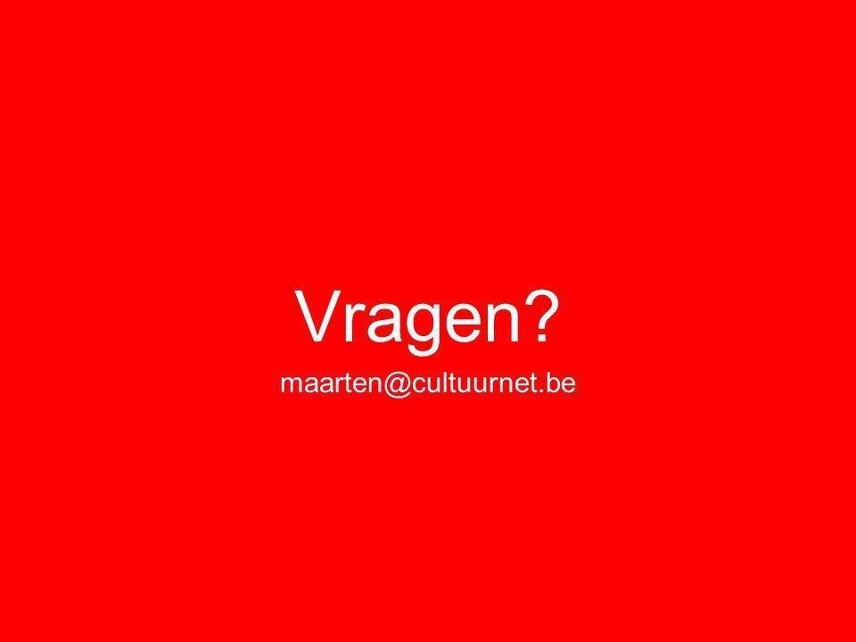 Vragen maarten@cultuurnet.be