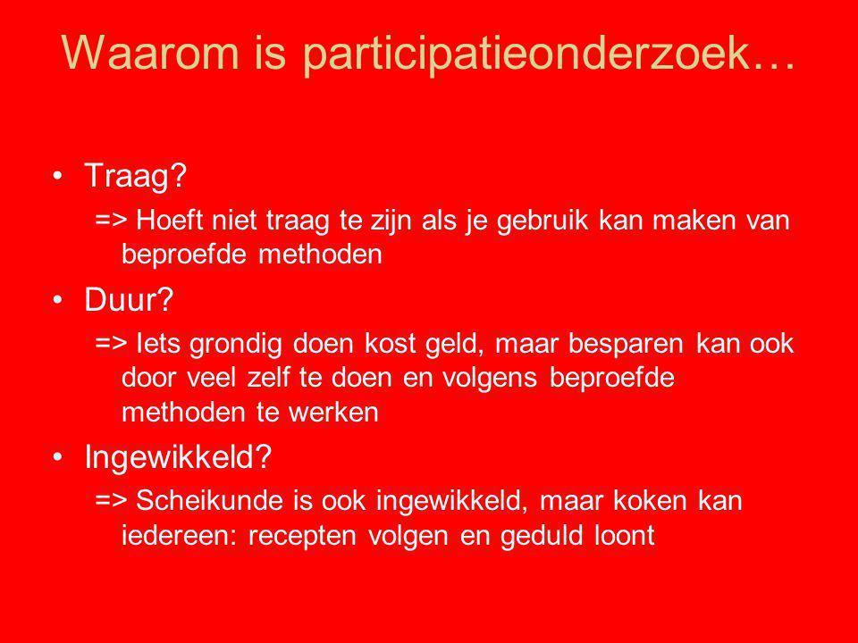 Waarom is participatieonderzoek…