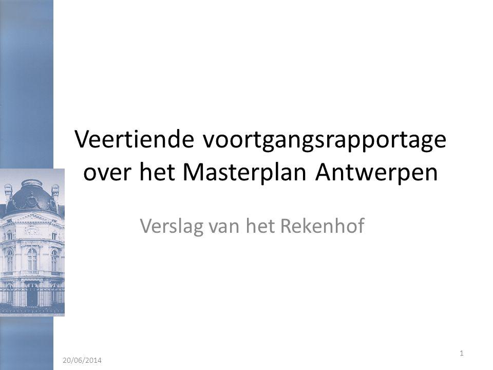 Veertiende voortgangsrapportage over het Masterplan Antwerpen
