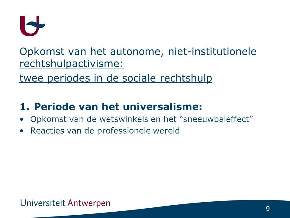 2. Periode van de specialisering en de professionalisering: