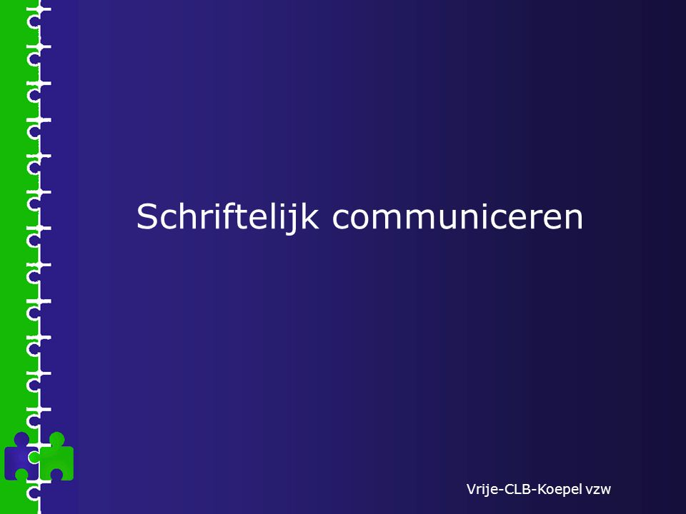 Schriftelijk communiceren