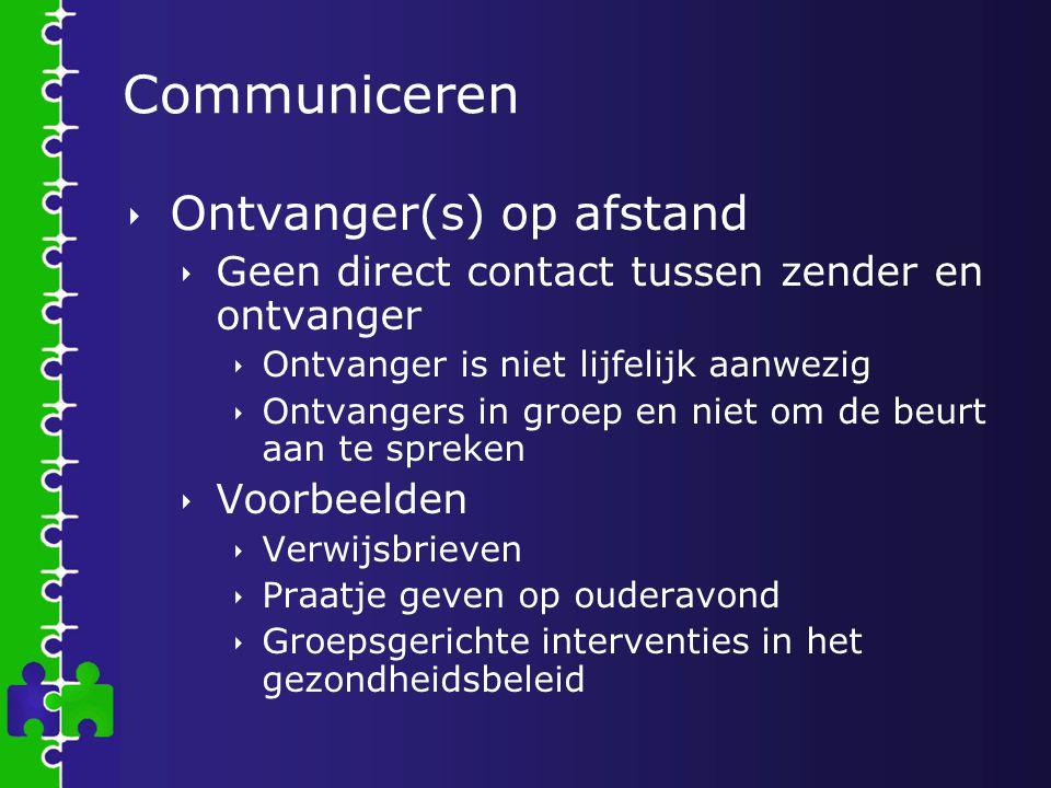 Communiceren Ontvanger(s) op afstand