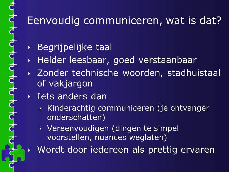 Eenvoudig communiceren, wat is dat