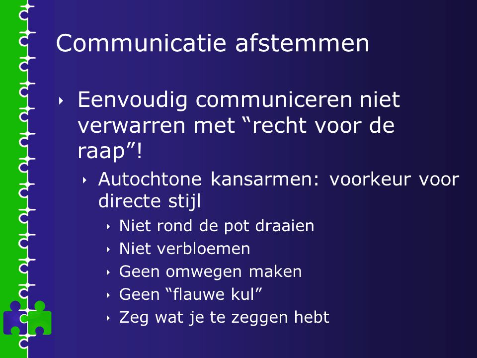 Communicatie afstemmen