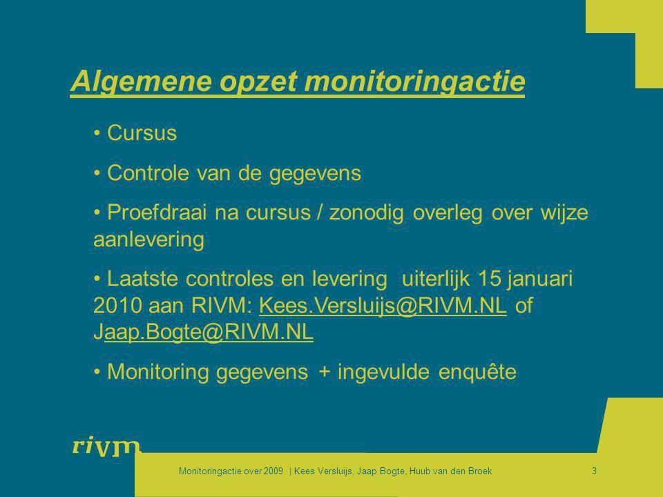 Algemene opzet monitoringactie