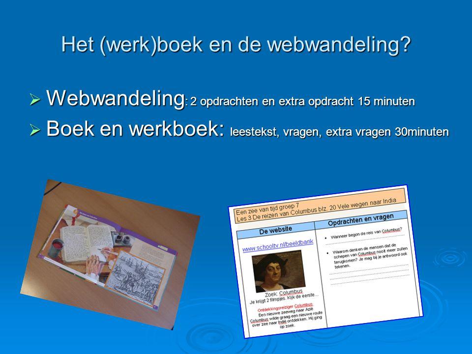 Het (werk)boek en de webwandeling