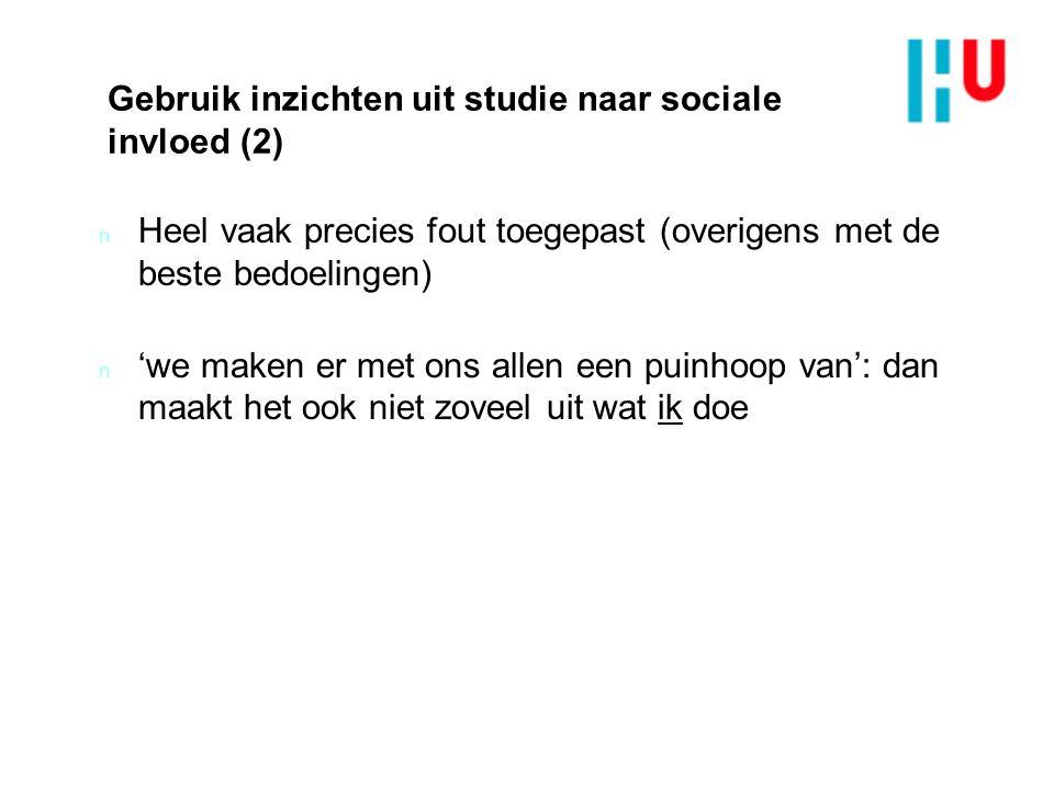 Gebruik inzichten uit studie naar sociale invloed (2)
