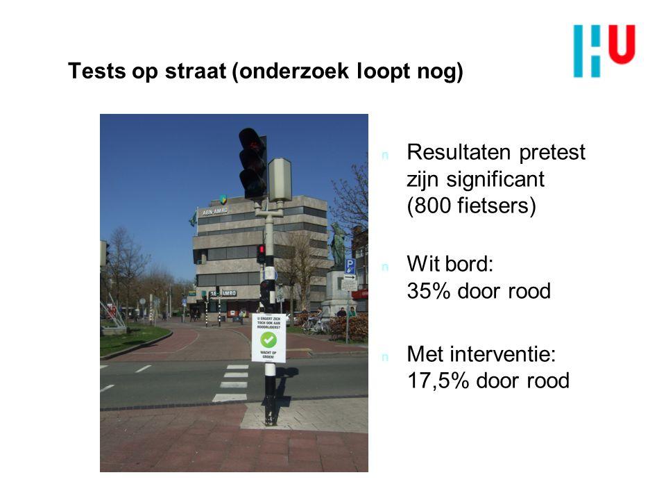 Tests op straat (onderzoek loopt nog)
