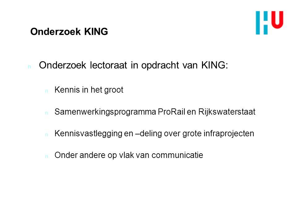 Onderzoek lectoraat in opdracht van KING: