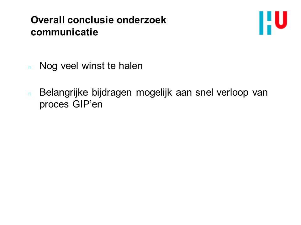 Overall conclusie onderzoek communicatie