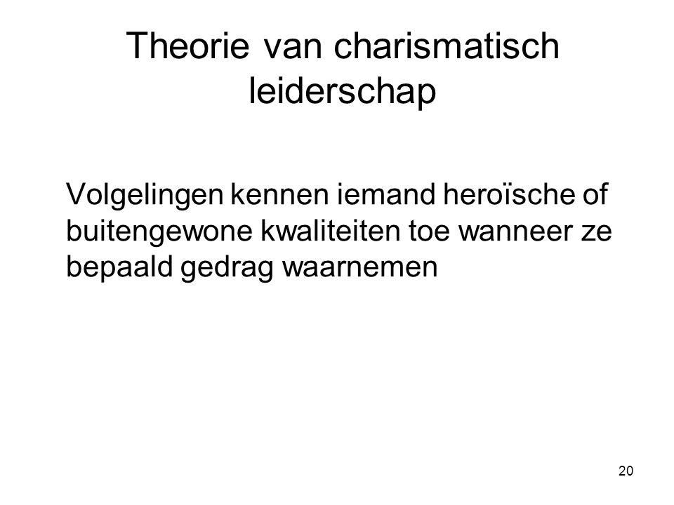 Theorie van charismatisch leiderschap