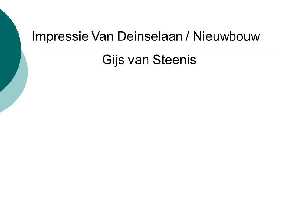 Impressie Van Deinselaan / Nieuwbouw