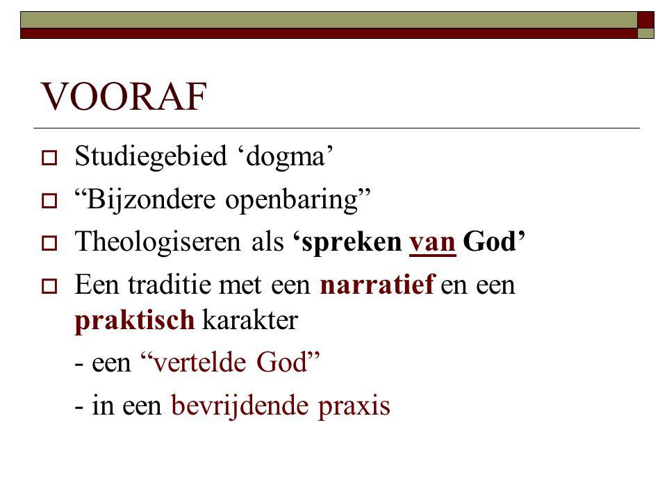 VOORAF Studiegebied 'dogma' Bijzondere openbaring
