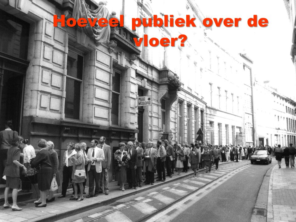 Hoeveel publiek over de vloer