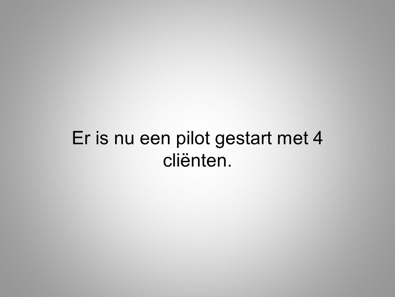 Er is nu een pilot gestart met 4 cliënten.
