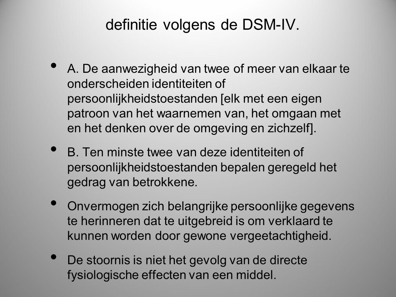 definitie volgens de DSM-IV.