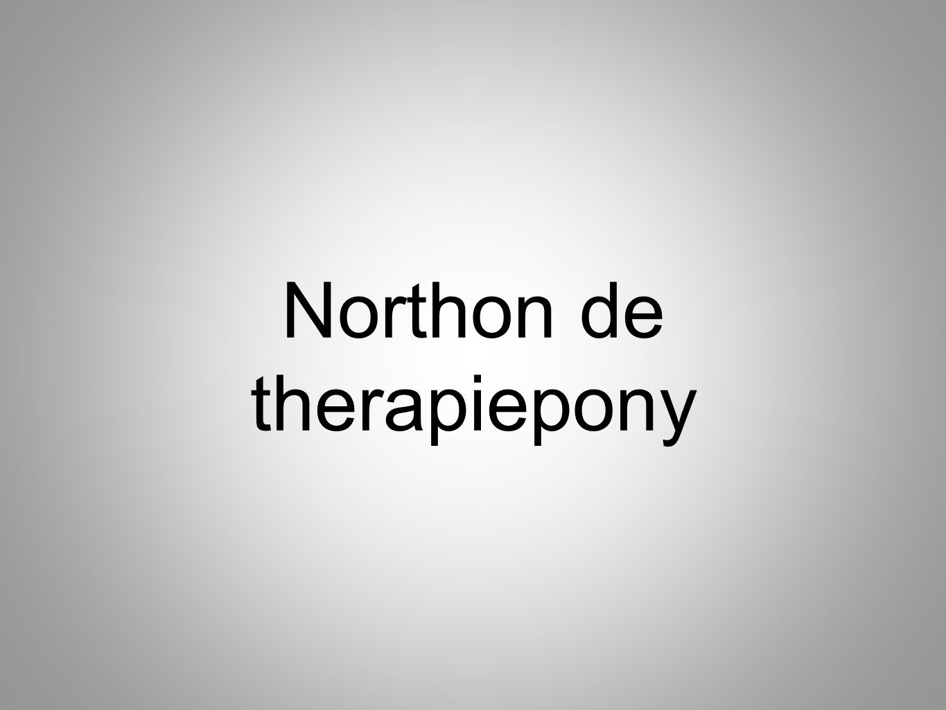 Northon de therapiepony