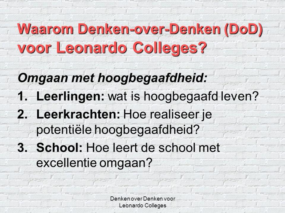 Waarom Denken-over-Denken (DoD) voor Leonardo Colleges