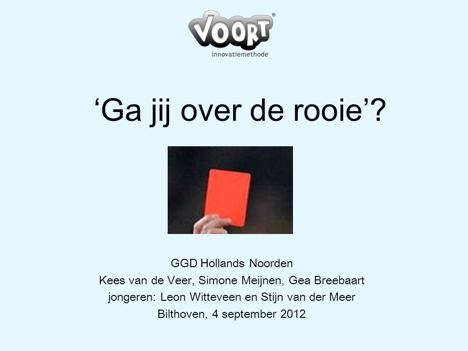 'Ga jij over de rooie' GGD Hollands Noorden