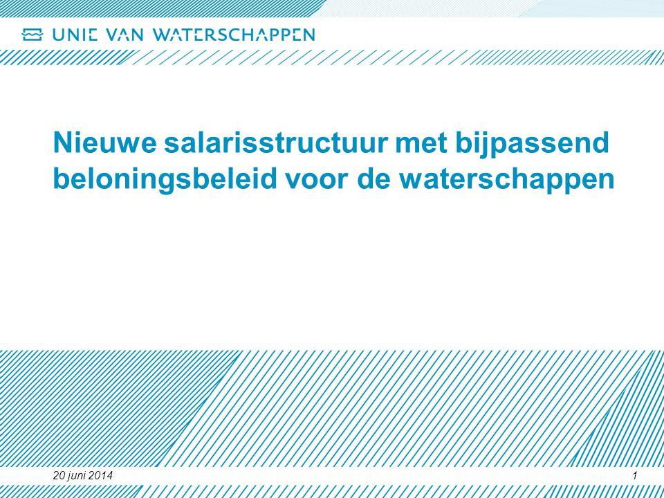 Nieuwe salarisstructuur met bijpassend beloningsbeleid voor de waterschappen
